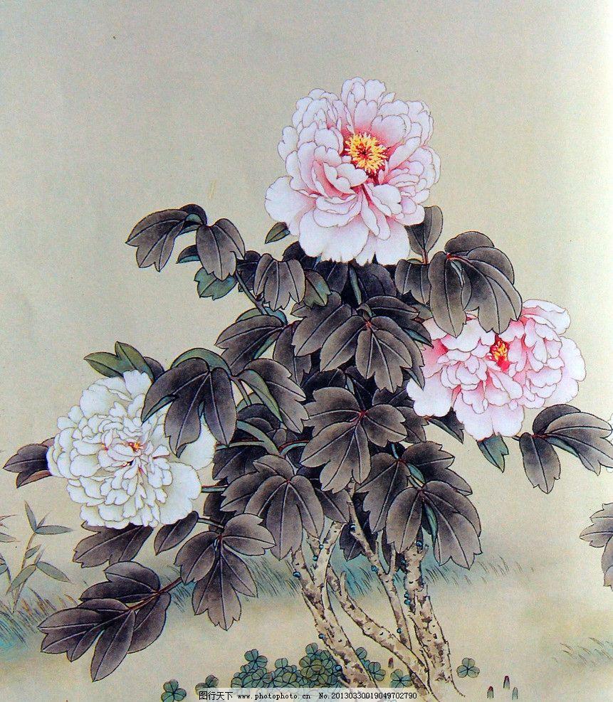 工笔牡丹 牡丹花 中国画 工笔画 手绘牡丹作品 工笔花鸟 花鸟