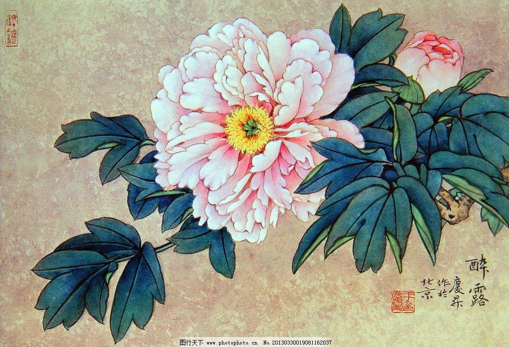 工笔牡丹 牡丹图 牡丹花 中国画 工笔画 手绘牡丹作品 工笔花鸟 花鸟
