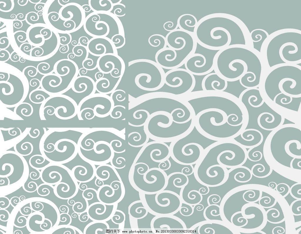 云纹 水波纹 纹理 背景 花纹 线描 云朵 psd分层素材 源文件 300dpi p
