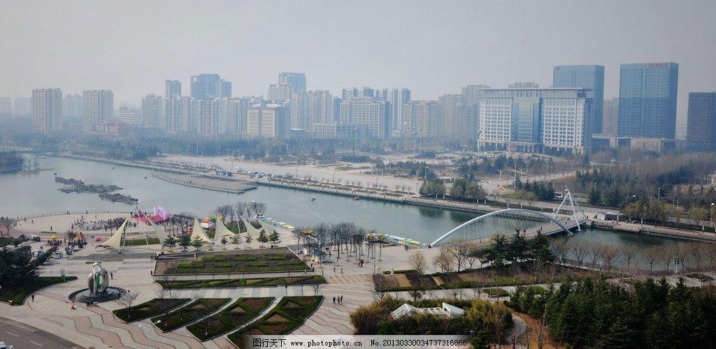 胶州鸟瞰 蓝天 白云 胶州美景 胶州三里河 胶州新城 新城区 城市新图片