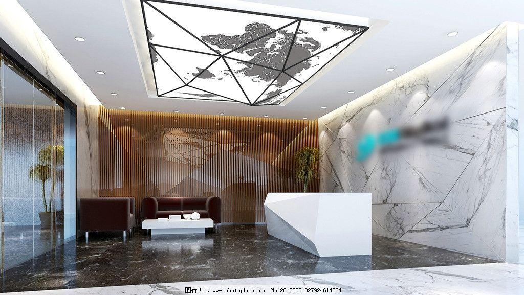 接待区 大堂 大厅 效果图 商业空间 室内装修 设计图 大样图
