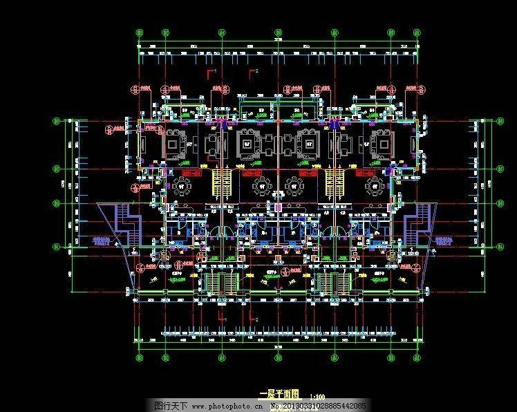 楼房平面图 懿花园 a 01栋 一层 平面图 施工图纸 cad设计图 源文件
